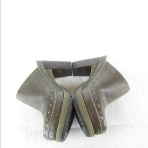 Dr. Martens Shoes - Dr Martens UNA Brown Leather Studded Mule Clogs